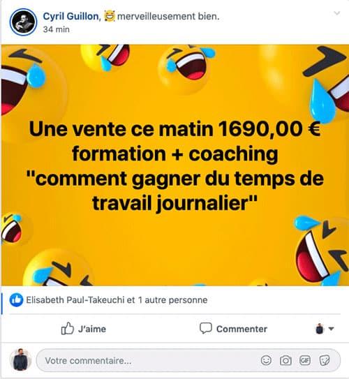 Avis Cyril Guillon pour la formation Formateur Pro MasteryAv